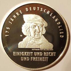 """Gedenkmünze """"125 Jahre Deutschlandlied"""""""