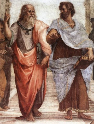 Platon (links) und Aristoteles