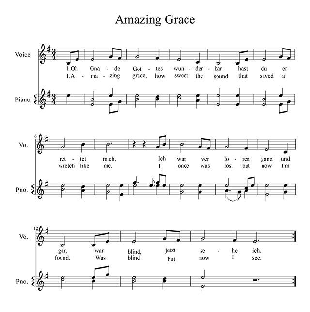 grace auf deutsch