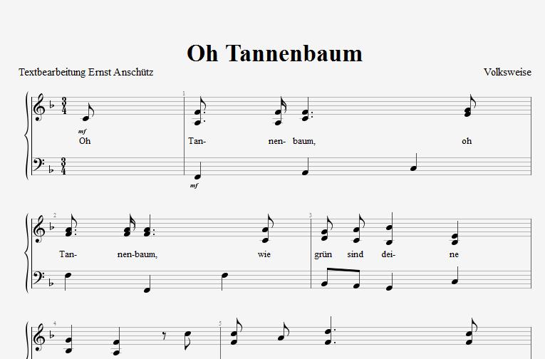 Noten Oh Tannenbaum.Deutschland Lese O Tannenbaum