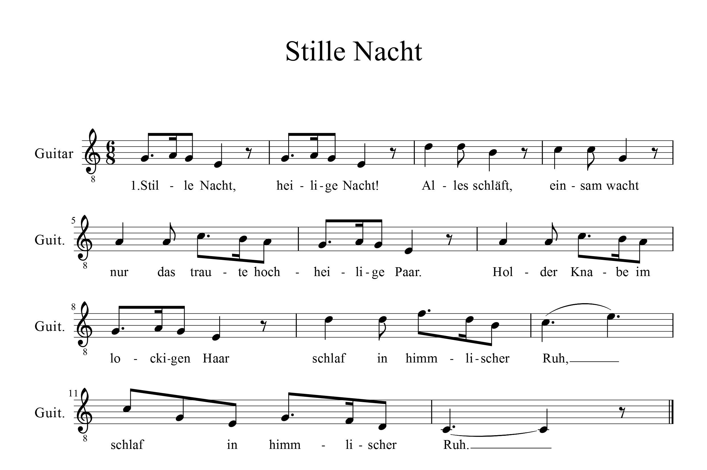 Lied Stille Nacht