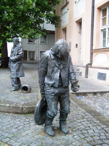 Caspar-Hauser-Denkmal in Ansbach. Foto: Christoph Werner.